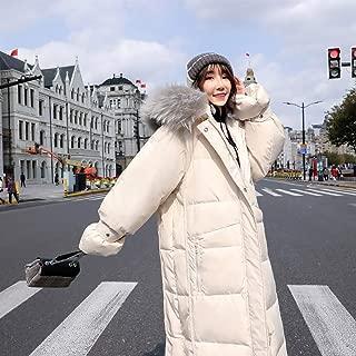 Long Down Jacket Women Packable Slim Women's Fluffy Steam Sterilization Windproof Cold Does Not DAn Velvet Large Fur Collar
