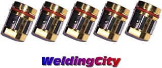 WeldingCity 5-pk Gas Diffuser 169-729 for Miller Millermatic M and Hobart H MIG Welding Guns