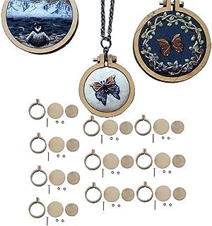 10 Stück Mini-Stickrahmen aus Holz, Kreuzstich-Rahmen, kleine Stickerei, Kreuzstich-Ring-Set, handgefertigt, zum Sticken, Quilten, Nadelspitzen, Seidenmalerei