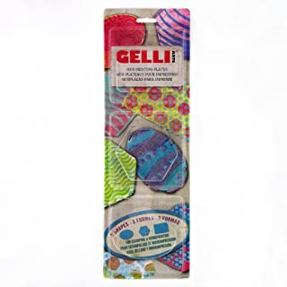 Gelli Arts Minis - Set of 3 Mini Gel Printing Plates Oval, Rectangle, and Hexagon