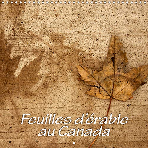 Feuilles d'érable au Canada (Calendrier mural 2021 300 × 300 mm Square)