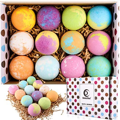 Bath Bomb Gift Set 12 Pack Natural Handmade Bubble Bath Bombs Perfect for Bubble Bath Hot Spring product image