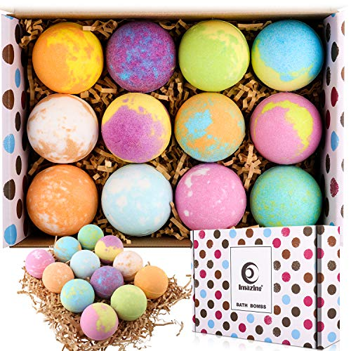 Bath Bomb Gift Set 35oz, 12 Extra Large Natural Handmade Bubble Bath Bombs, Perfect for Bubble Bath, Children's SPA, Best Gift for Women, Wife, Girlfriend.