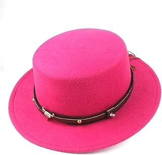 Hat Size 56-58CM Men Women Flat Top Fedora Hat Wide Brim Hat Panama Jazz Hat Wool Church Hat Fascinator Fashion Hat