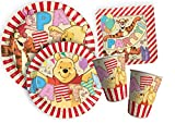 Ciao Y4382 Party Winnie the Pooh Alphabet Kit for 8 People Beige / Red