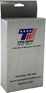 Triumph Twist Drill Co. 090552 T17M Size Ranger 1/16-Inch-1/2-Inch by 64ths High Speed Steel Drill Set, Black and Bronze Oxide Coated, 1-Pack