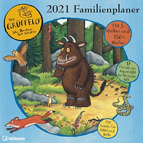 Grüffelo 2021 Familienplaner - Familien-Timer - Termin-Planer - Kinder-Kalender - Familien-Kalender - 30x30