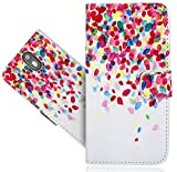 Wileyfox Storm 4G Handy Tasche, FoneExpert® Wallet Hülle Flip Cover Hüllen Etui Hülle Ledertasche Lederhülle Schutzhülle Für Wileyfox Storm 4G
