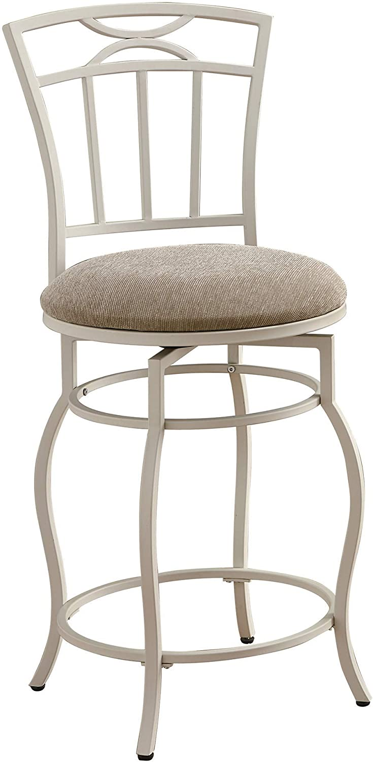 Coaster Home Furnishings Casual Bar Stool, 24 , White Cream