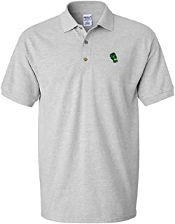Custom Polo Shirt Monster Zombie Head Embroidery Design Cotton Golf Shirt