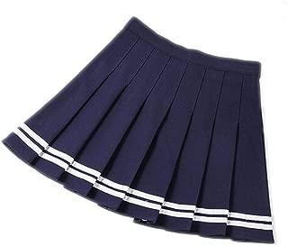 Women High Waist Pleated Skirts Woman Girls Sailor Skirt Large Size School Uniform