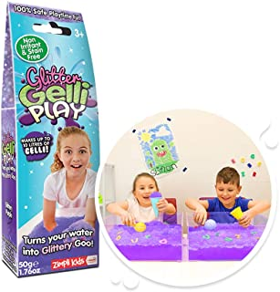 Glitter Gelli Play Purple, Makes up to 10 Litres of goo! Children's Sensory & Messy Play toy, Certified Biodegradable Toy
