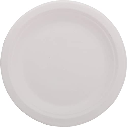 """ECOWARE: 100% Biodegradable, Compostable, Ecofriendly, Safe & Hygienic Disposable 7"""" inch Small Plate (Pack of 50)"""
