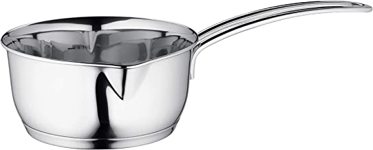 Kuchenprofi Stainless Steel Saucepan with Clad Bottom 23-Ounce Silver