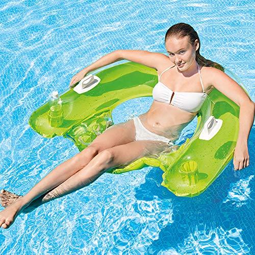 Queta Wasser Hängematte Schwimmende Wasser Bett Pool Schwimmbad Aufblasbare Luftmatratze 152*99CM, Zufällige Farbe (Typ1)
