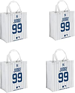 Foco - New York Yankees Reusable Shopping Grocery Bags 4 Pack - Aaron Judge #99
