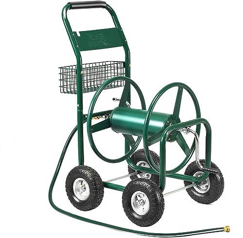 popular Giantex Garden popular Hose Reel Cart popular 4-Wheel Lawn Watering Outdoor Heavy Duty Yard Water Planting sale