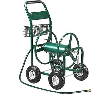 Giantex Garden Hose Reel Cart 4-Wheel Lawn Watering Outdoor Heavy Duty Yard Water Planting