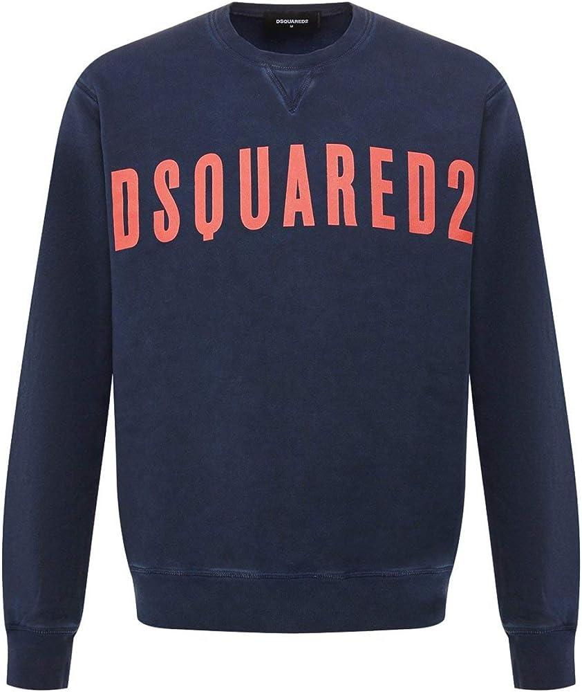 Dsquared2 felpa per uomo a maniche lunghe 100% cottone S25030 478