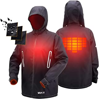 ATATAKAI USB Charging Electric Washable Warm Bodies Heated Hoodie Jacket Clothing for Outdoor Sports Hiking Fishing Hunting Golf Camping Gear(Power Bank not Include)