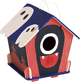 ROBOTIME Wooden Birdhouse for Outdoors Model Building Kits 3D Painting Puzzle Wood Craft Kits Best Gifts for Kids Age 3+