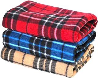 毛布3枚セット 50×70cm 防寒冷え性予防 ひざ掛け ペット用 いろいろ用途に
