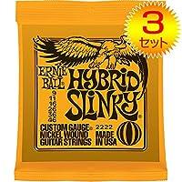 【3セット】ERNIE BALL/アーニーボール 2222[09-46] HYBRID SLINKY エレキギター弦