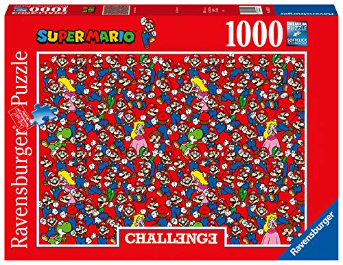 Ravensburger Puzzle 16525 - Challenge Puzzle Super Mario - 1000 Teile Puzzle für Erwachsene und Kinder ab 14 Jahren, Puzzle mit Mario, Luigi, Peach und Yoshi