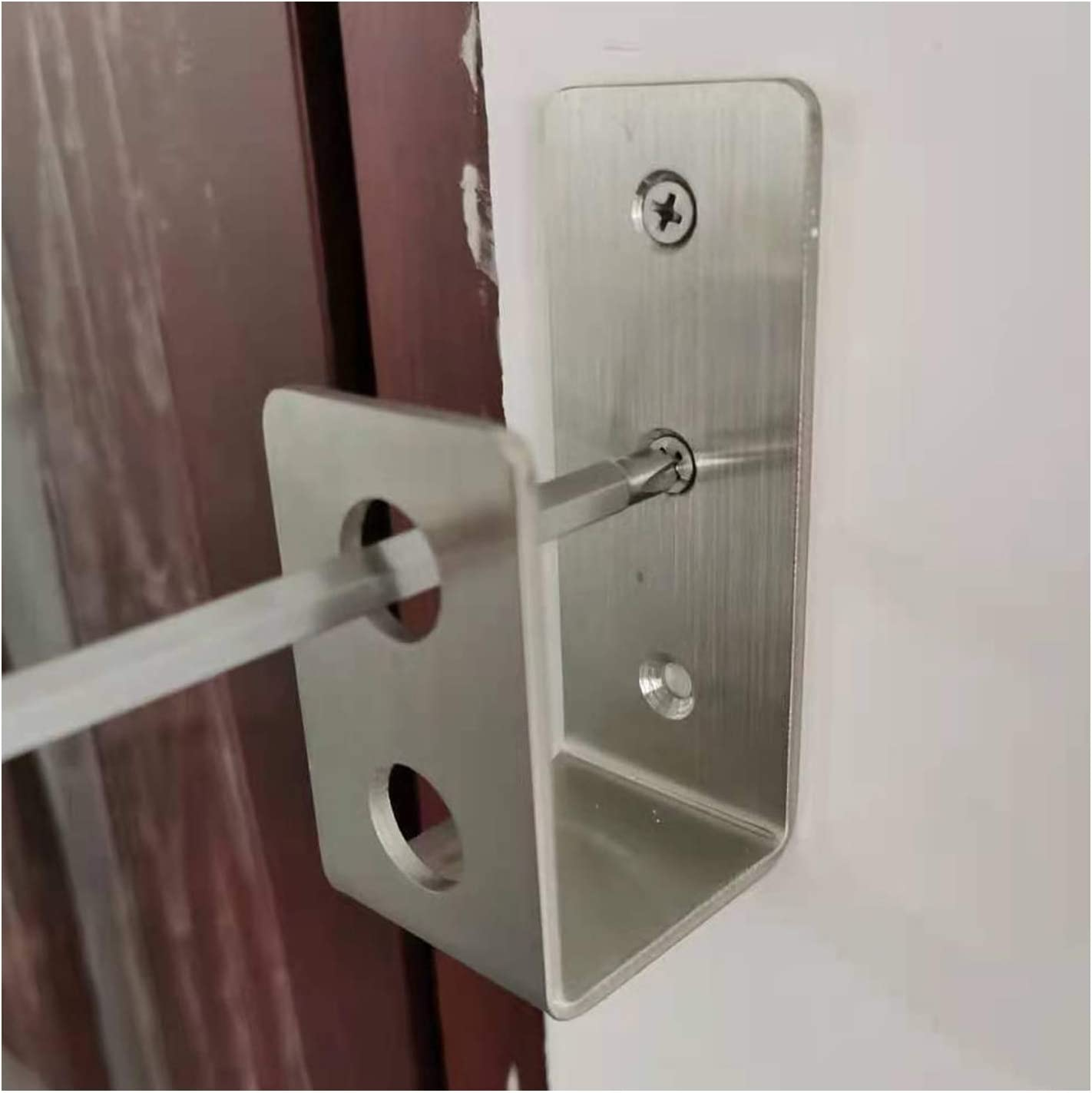 """2x Heavy duty black plastic 130mm 5 1//8/"""" industrial commercial door pull handle"""