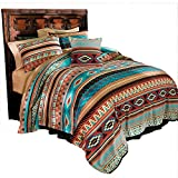 Bits and Pieces - Mesa Fleece Blanket Bedding - Southwestern Character Whisper-Weight Fleece - King Size - Super-Soft Reversible Carefree Polyester - Easy Care Machine Washable