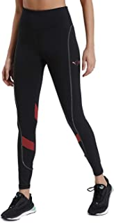 PUMA Women's The First Mile Eclipse Tight Leggings, Black-Burnt Russet