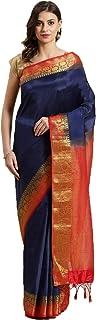 Chhabra 555 Banarasi Silk with Blouse Piece Saree (CWRC1170_Blue_OneSize)