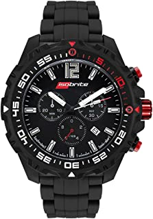 Isobrite ISO421 Chronograph T100 Tritium Watch with NBR Rubber Band