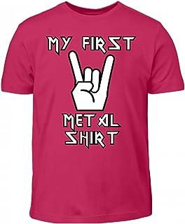PlimPlom Hochwertiges Kinder T-Shirt - My First Metal Shirt Heavy Metal Design Für Kinder Egal Ob Mädchen Oder Junge