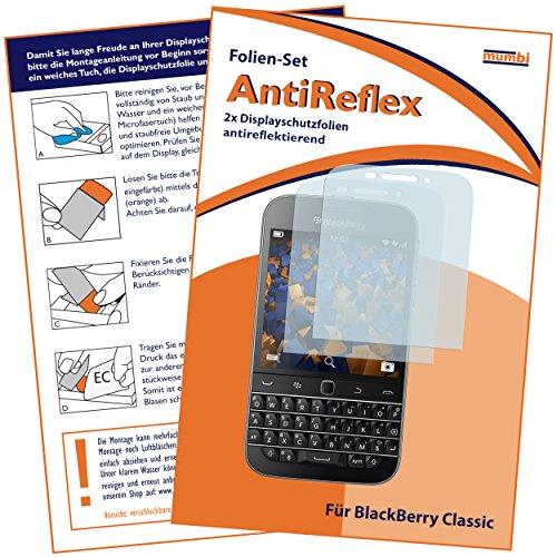 mumbi Schutzfolie kompatibel mit Blackberry Classic Folie matt, Bildschirmschutzfolie (2x)