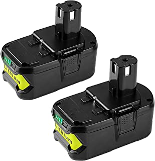 Energup Replacement 2Pack 5000Ah 18V Ryobi Battery for Ryobi 18-Volt P102 P103 P105 P107 P108 P109 Ryobi ONE+ Cordless Tool Ryobi 18V Lithium Batteries