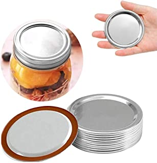 24 Pcs Canning Lids Regular Mouth, Mason Jar Lids Regular Mouth Leak Proof Canning Jars, Secure Canning Lids for Ball, Ker...