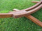 410cm XXL Luxus Hängemattengestell aus Holz Lärche Hängematte Modell: MONA mit bunter Hängematte von AS-S - 5