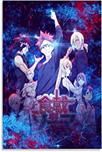 Anime Poster Food Wars Canvas Art Poster and Wall Art Picture Print Modern Family Bedroom Decor Posters 12x18inch(30x45cm)
