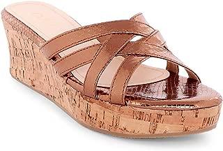 Ceriz Women's Theda Criss Cross Bronze Sandals
