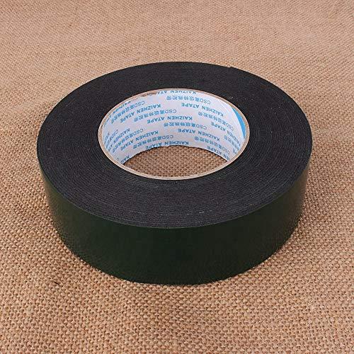 JJ. Accessory Klebeband, Rolle 10 m, super stark, wasserdicht, selbstklebend, doppelseitiges Schaumstoff-Klebeband, schwarz