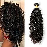 Moresoo 12pouces/30cm Kinky Curl Tissage Cheveux Naturels Frise Bresilienne Tissage Meches Bresilien Bouclees en Lot Pas Cher Bliss Hair
