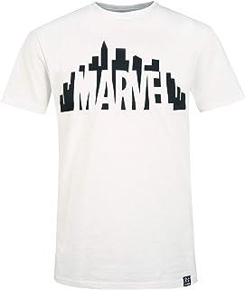 Recovered Marvel City Logo Crudo Camiseta