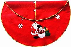 ZZbaixinglongan Jupe de Sapin de Noël Motif Père Noël