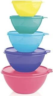 Tupperware Wonderlier Mixing Serving Bowl Set 5 Assorted Colors