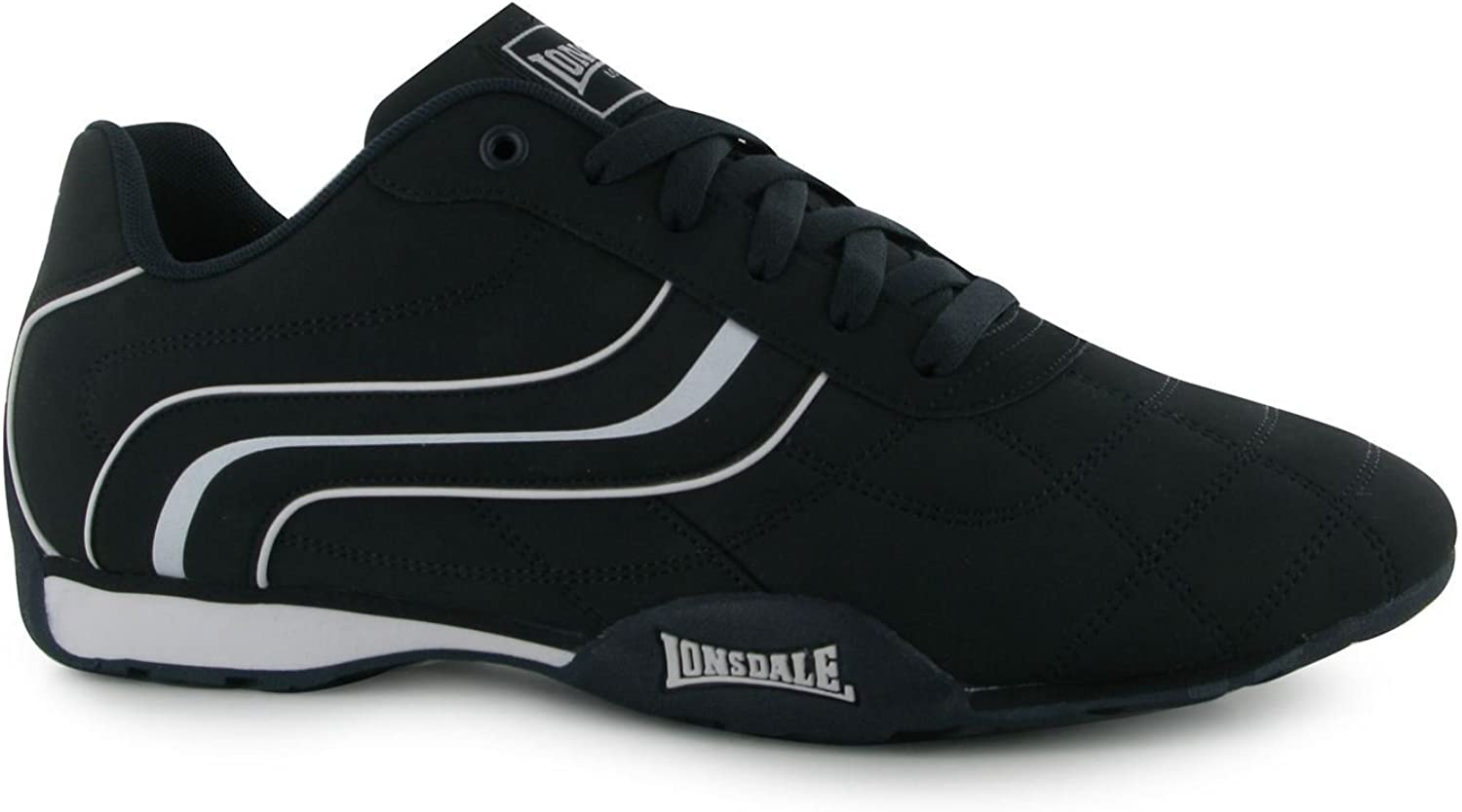 Lonsdale Camden Trainers Mens Navy White Casual Sneakers shoes Footwear