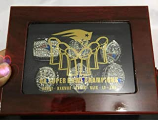 crystal 1st store New England Patriots 6 Years (Style 2) Rings Set, Super Bowl 2019-2001 Championship Replica Rings Size 8-14