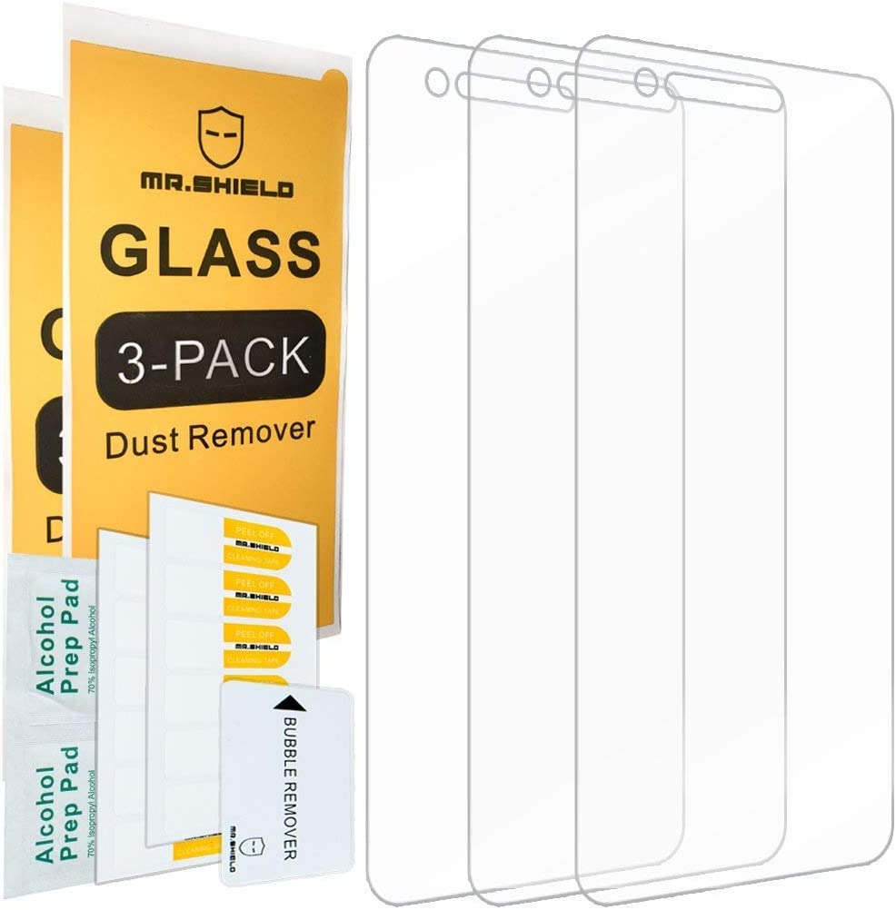 [3-PACK]-Mr.Shield Designed For LGPhoenix4 [Tempered Glass] Screen Protector with Lifetime Replacement