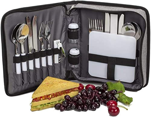 popular 18 Piece high quality - 4 Person outlet sale Travel Picnic/Outdoor Wallet online sale