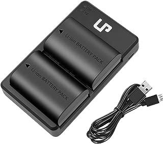 LP LP-E6 LP E6N Battery Charger Set, 2-Pack Battery&Dual Charger Compatible with Canon EOS 5D Mark II, 5D Mark III, 5D Mark IV, 5DS, 5DS R, 6D, 6D Mark II, 7D, 7D Mark II, 60D, 60DA, 70D, 80D, R&More